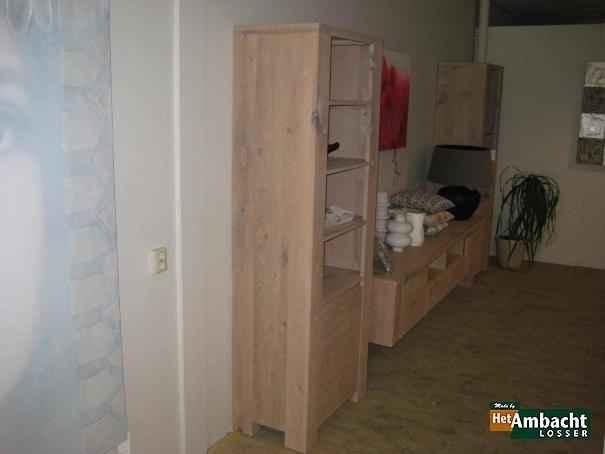 Stoer boekenkast eiken 1-deurs